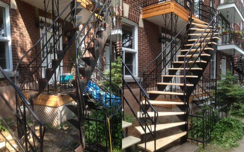 escalier en colimacon montreal
